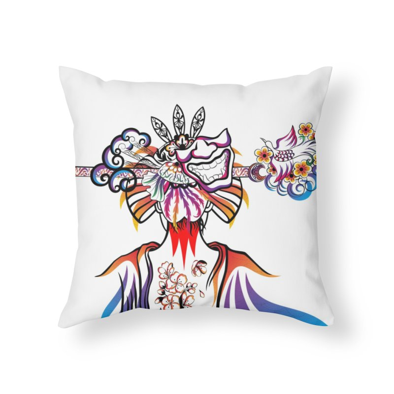 Women Warrior (1) Home Throw Pillow by Eastern Cloud's Artist Shop