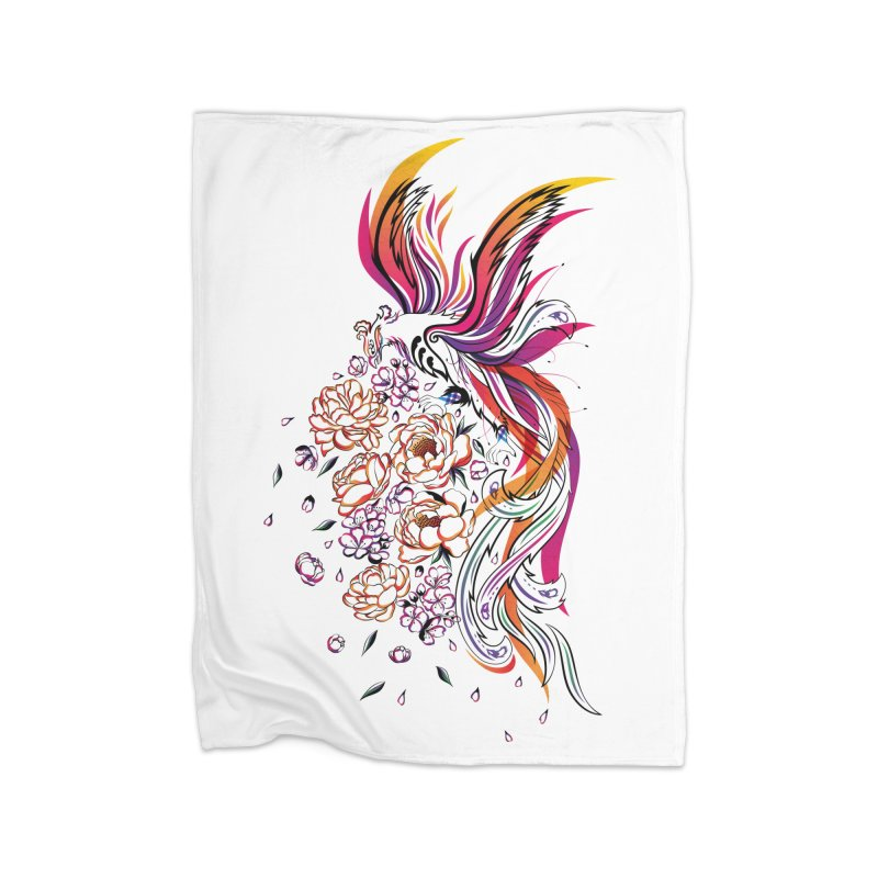 Women Warrior (3) - The Phoenix Home Fleece Blanket Blanket by Eastern Cloud's Artist Shop