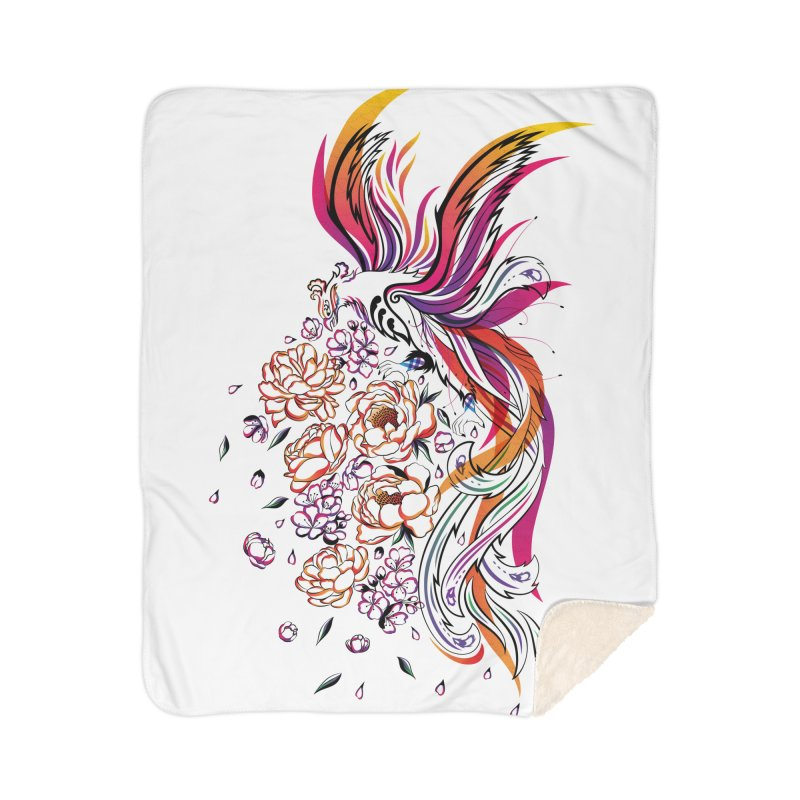 Women Warrior (3) - The Phoenix Home Sherpa Blanket Blanket by Eastern Cloud's Artist Shop