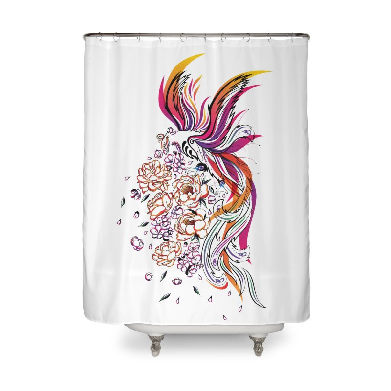 Women Warrior (3) - The Phoenix Home Shower Curtain by Eastern Cloud's Artist Shop