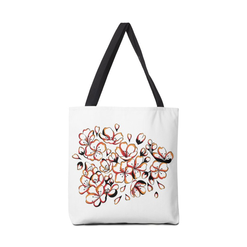 Women Warrior - Cherry Blossom Accessories Bag by Eastern Cloud's Artist Shop