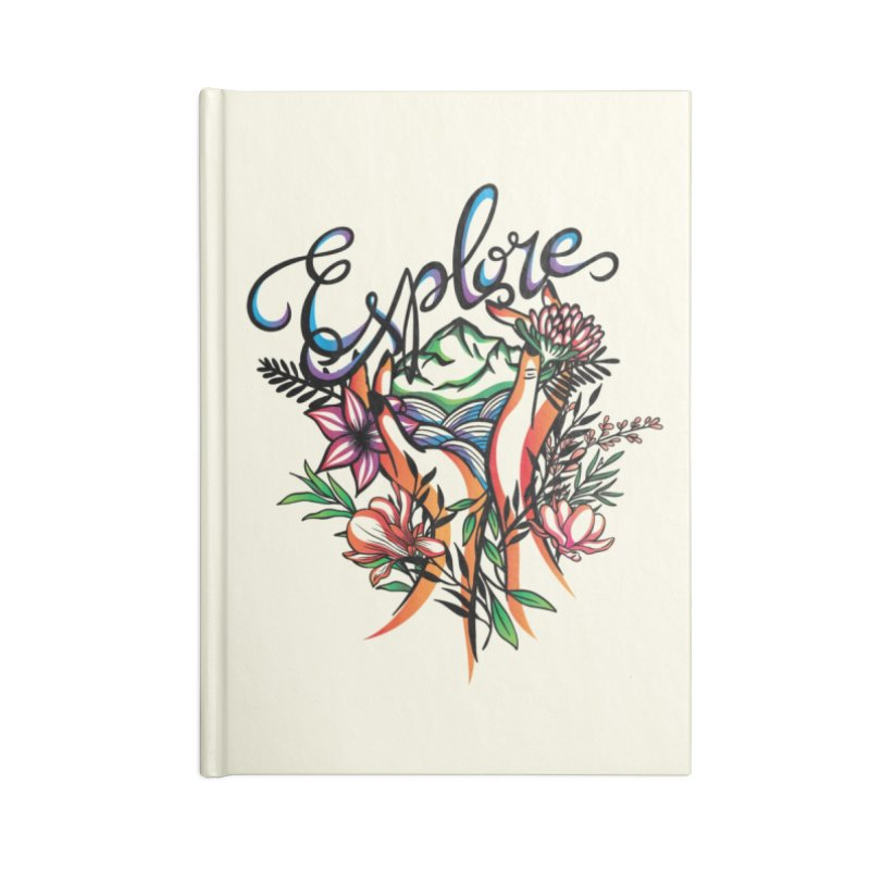 Explore the World Accessories Lined Journal Notebook by Eastern Cloud's Artist Shop