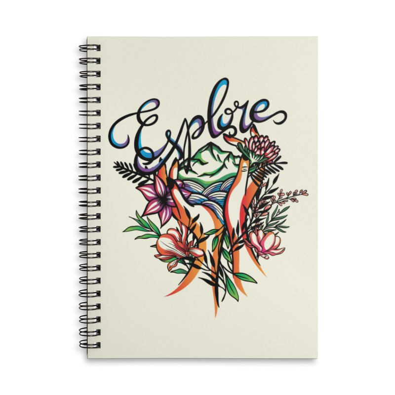 Explore the World Accessories Lined Spiral Notebook by Eastern Cloud's Artist Shop