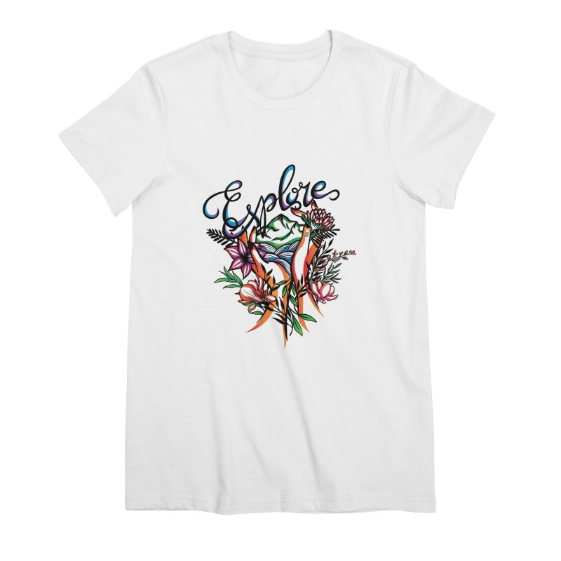 Explore the World Women's Premium T-Shirt by Eastern Cloud's Artist Shop