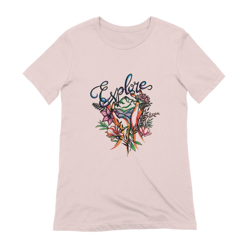 Explore the World Women's Extra Soft T-Shirt by Eastern Cloud's Artist Shop