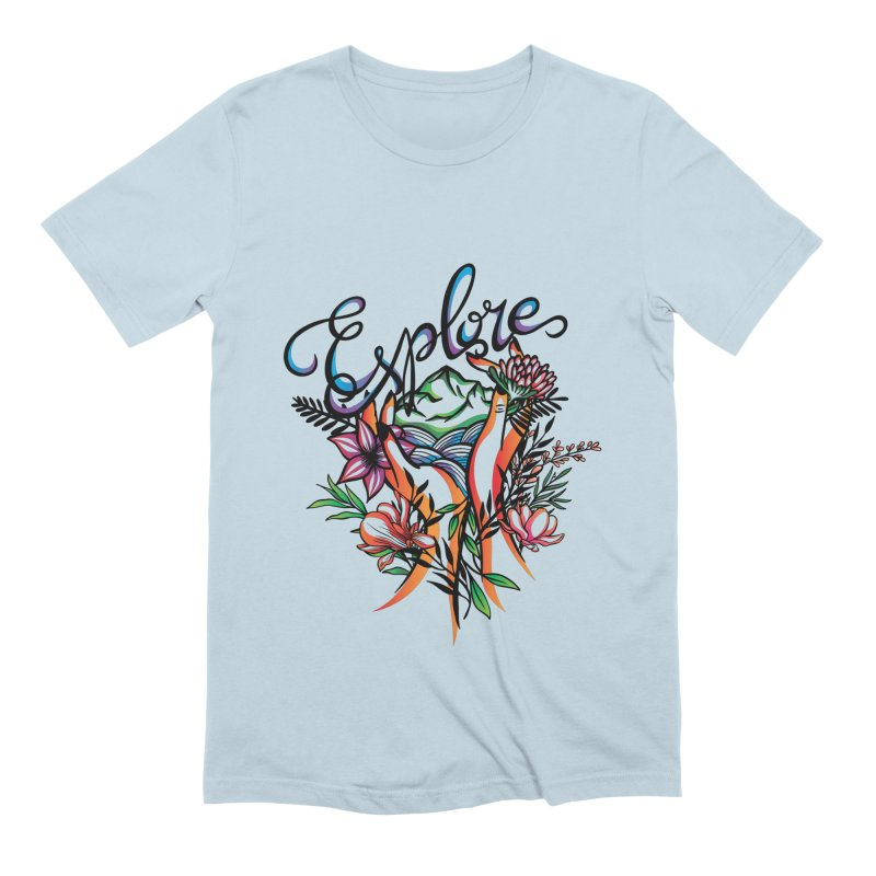 Explore the World Men's Extra Soft T-Shirt by Eastern Cloud's Artist Shop