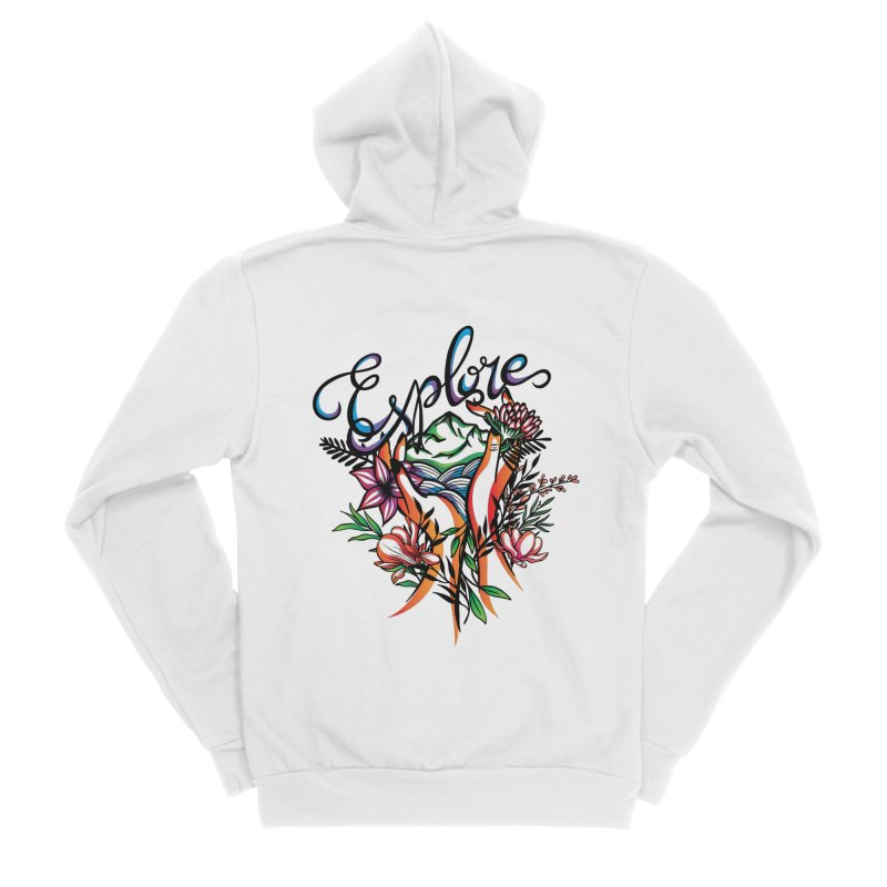 Explore the World Women's Sponge Fleece Zip-Up Hoody by Eastern Cloud's Artist Shop