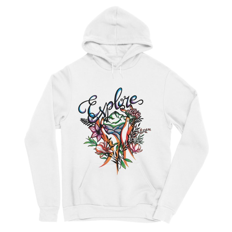 Explore the World Women's Sponge Fleece Pullover Hoody by Eastern Cloud's Artist Shop