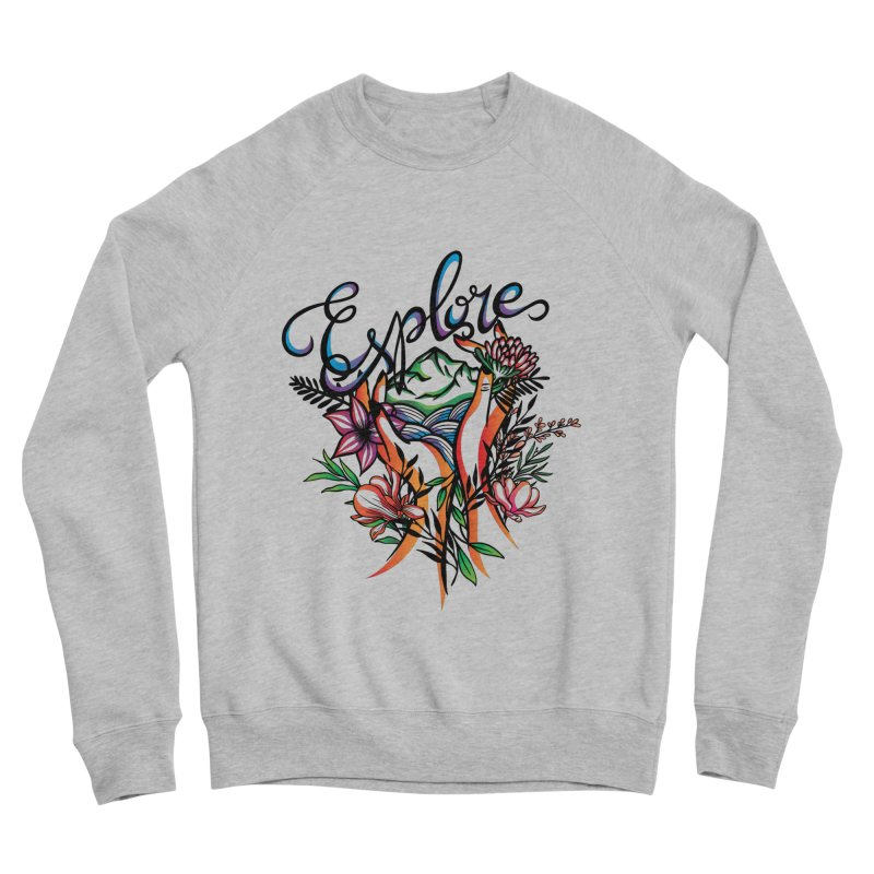 Explore the World Women's Sponge Fleece Sweatshirt by Eastern Cloud's Artist Shop
