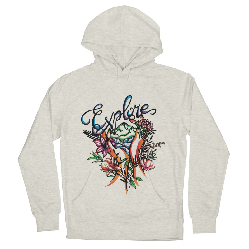 Explore the World Women's French Terry Pullover Hoody by Eastern Cloud's Artist Shop