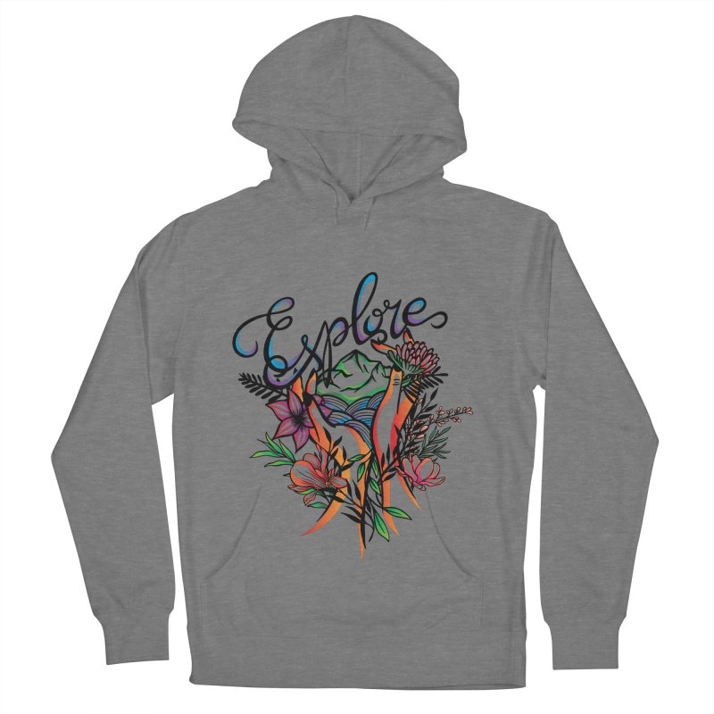 Explore the World Men's French Terry Pullover Hoody by Eastern Cloud's Artist Shop