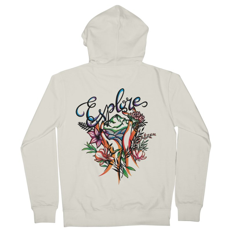 Explore the World Men's French Terry Zip-Up Hoody by Eastern Cloud's Artist Shop