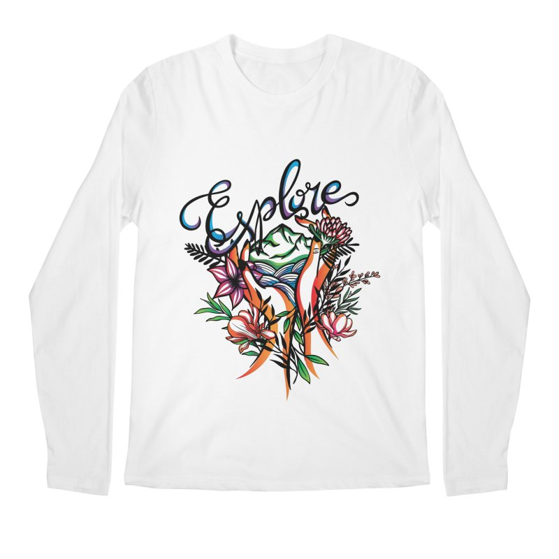 Explore the World Men's Regular Longsleeve T-Shirt by Eastern Cloud's Artist Shop