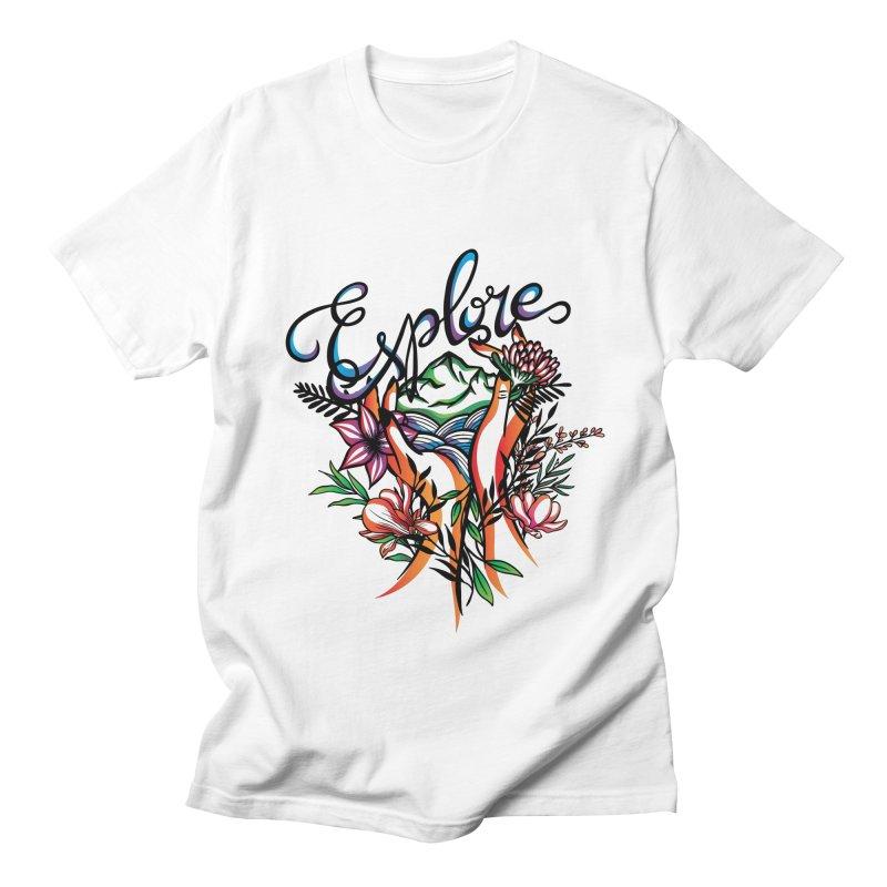 Explore the World Women's Regular Unisex T-Shirt by Eastern Cloud's Artist Shop
