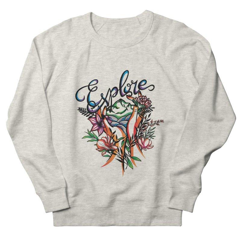 Explore the World Women's French Terry Sweatshirt by Eastern Cloud's Artist Shop