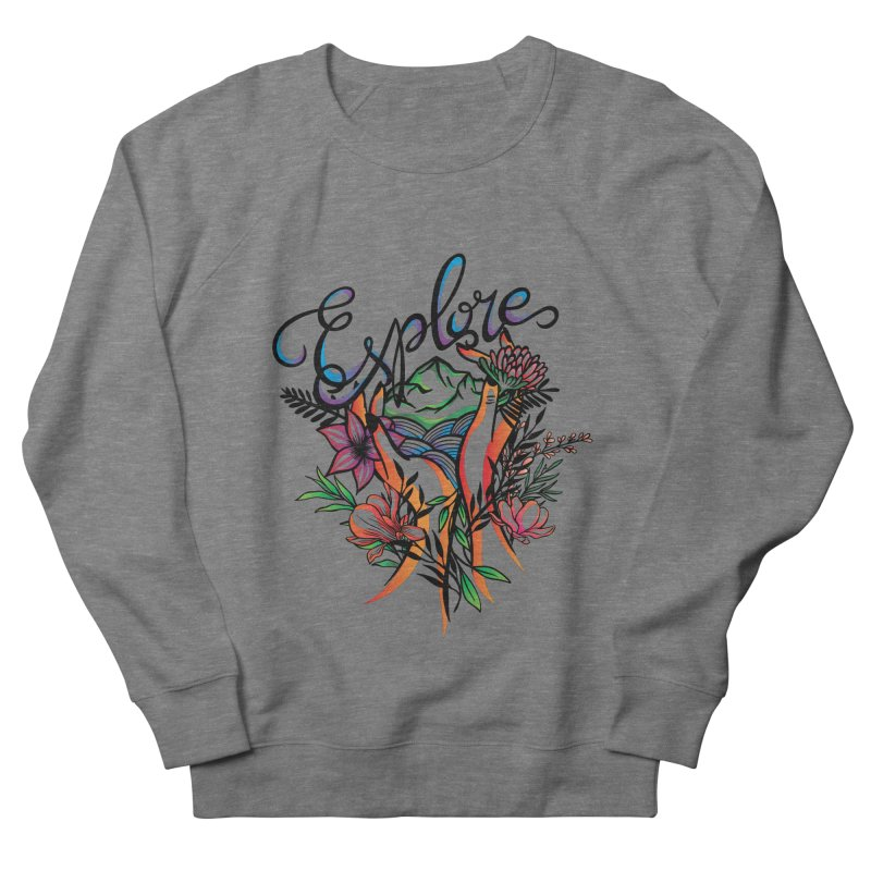 Explore the World Men's French Terry Sweatshirt by Eastern Cloud's Artist Shop