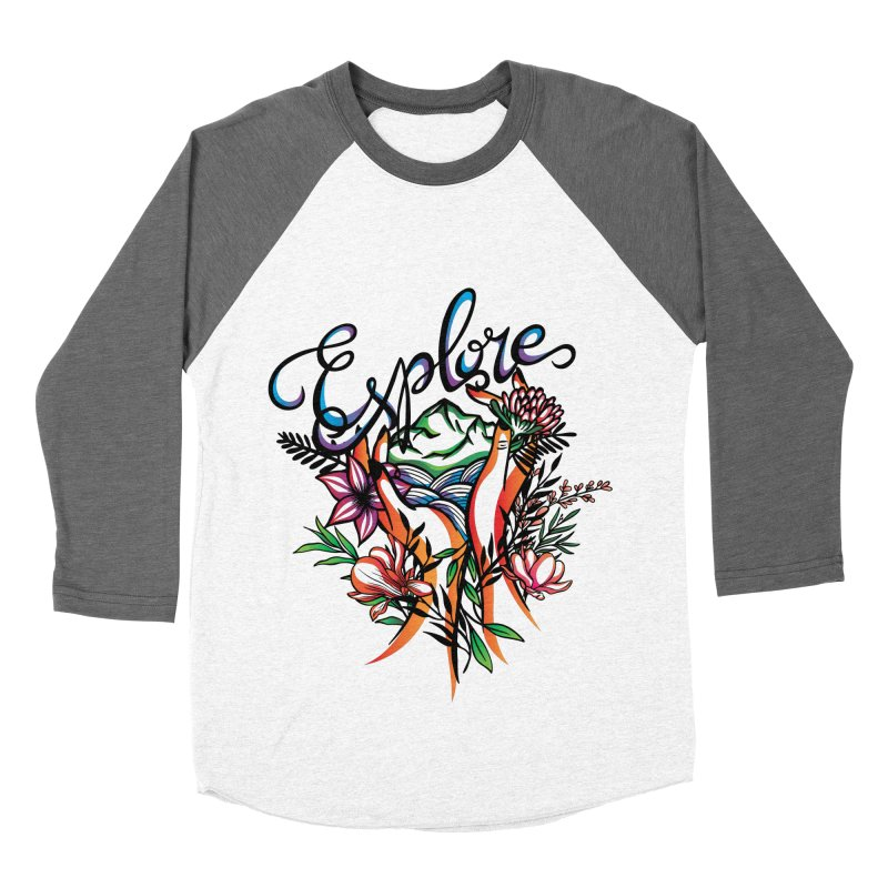 Explore the World Men's Baseball Triblend Longsleeve T-Shirt by Eastern Cloud's Artist Shop