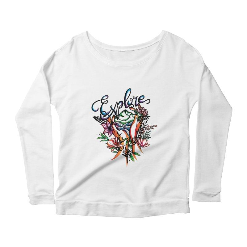 Explore the World Women's Scoop Neck Longsleeve T-Shirt by Eastern Cloud's Artist Shop