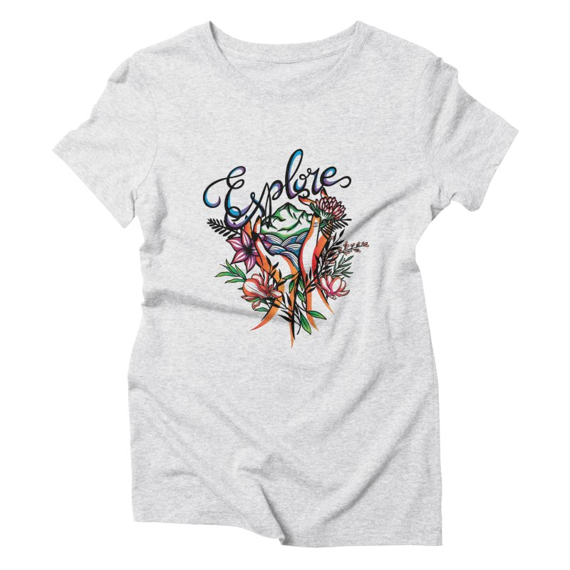 Explore the World Women's Triblend T-Shirt by Eastern Cloud's Artist Shop