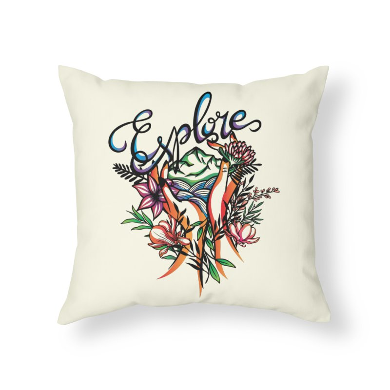 Explore the World Home Throw Pillow by Eastern Cloud's Artist Shop