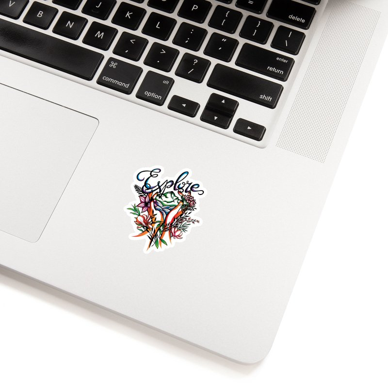 Explore the World Accessories Sticker by Eastern Cloud's Artist Shop