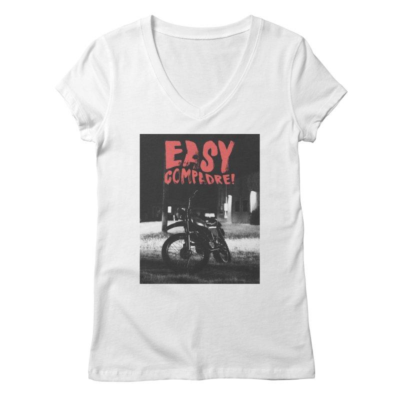 No Más Jaulas Women's V-Neck by Easy Compadre! Artist Shop