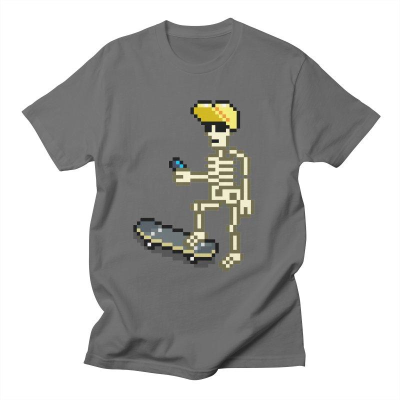SkeletonSkaterPhone Men's T-Shirt by eBoy