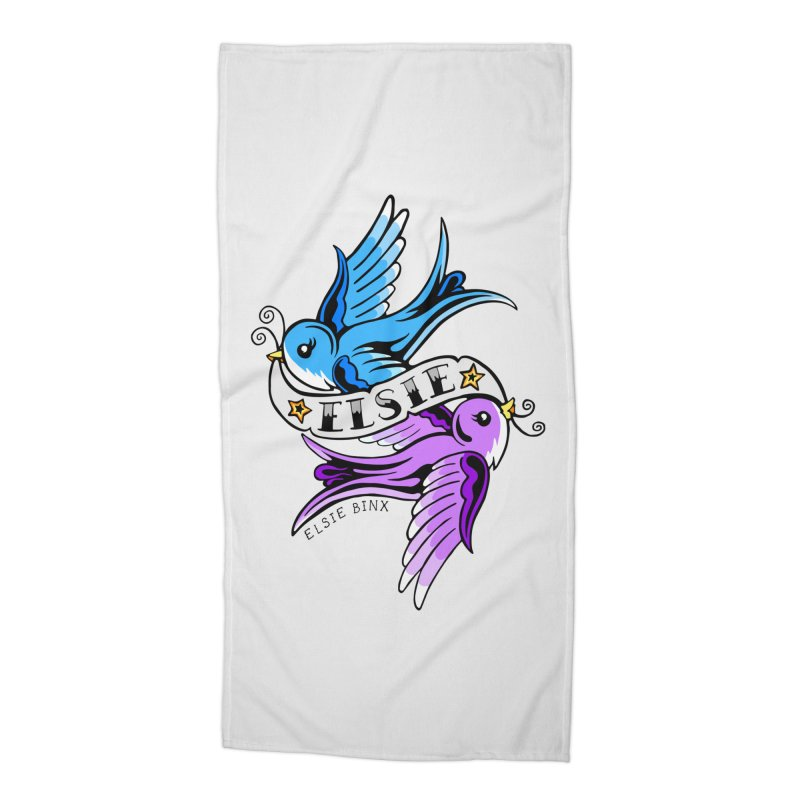 Swallows (2019) Accessories Beach Towel by ELSIE BINX SHOP