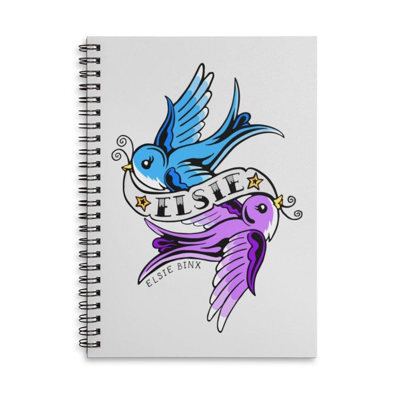 Swallows (2019) Accessories Notebook by ELSIE BINX SHOP
