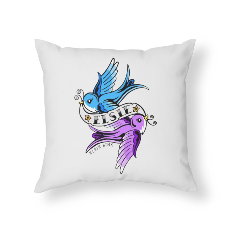 Swallows (2019) Home Throw Pillow by ELSIE BINX SHOP