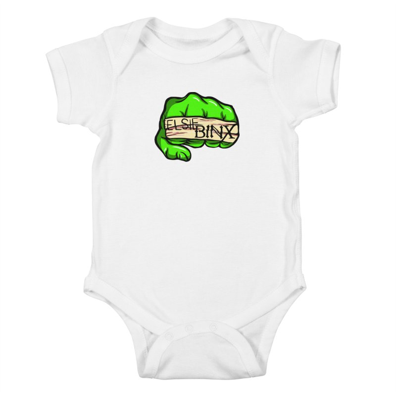 Binx Smash (2019) Kids Baby Bodysuit by ELSIE BINX SHOP