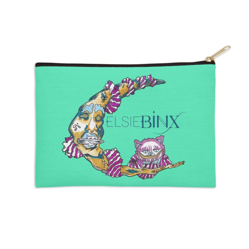 MoonCat (2015) Accessories Zip Pouch by ELSIE BINX SHOP