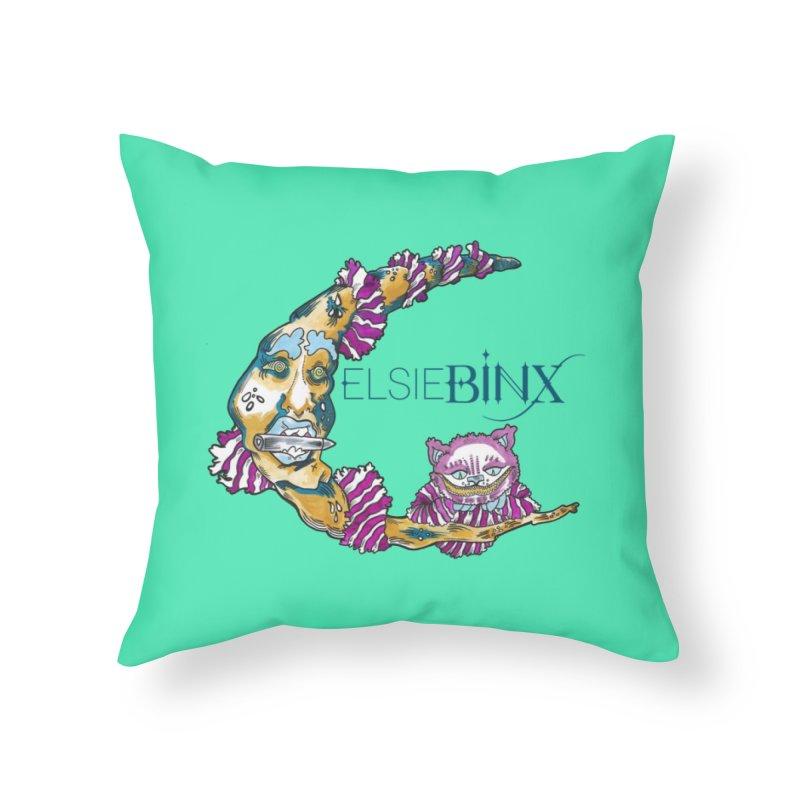MoonCat (2015) Home Throw Pillow by ELSIE BINX SHOP