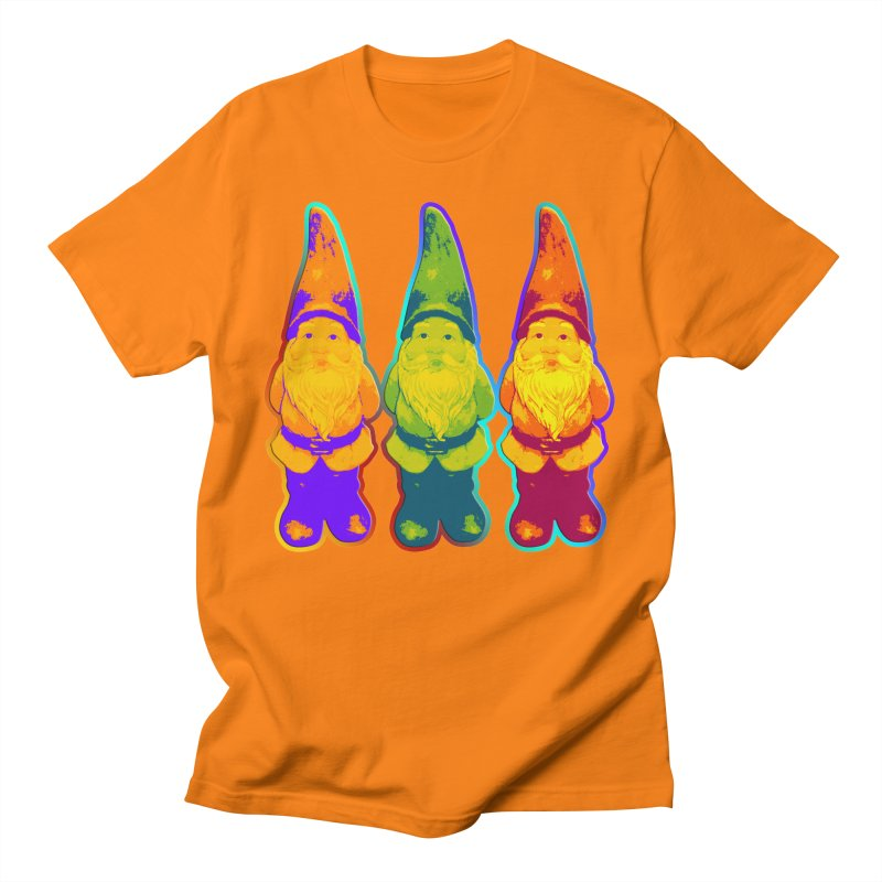3 Garden Gnomes - Neon Style Painting Men's T-Shirt by EDDArts Shop