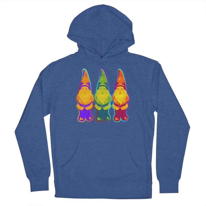 3 Garden Gnomes - Neon Style Painting Women's Pullover Hoody by EDDArts Shop