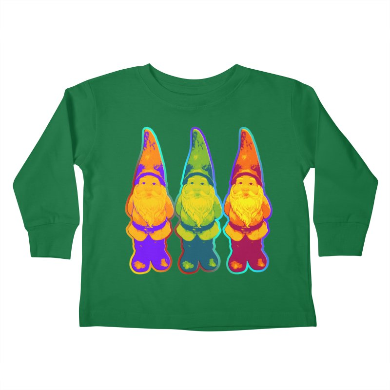 3 Garden Gnomes - Neon Style Painting Kids  by EDDArts Shop