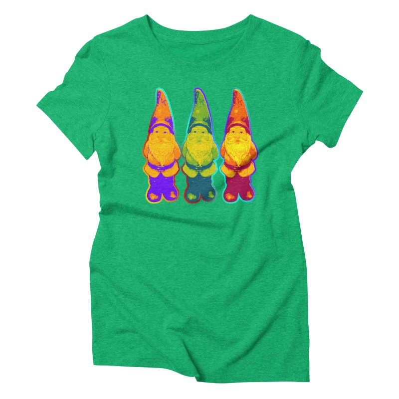 3 Garden Gnomes - Neon Style Painting Women's  by EDDArts Shop