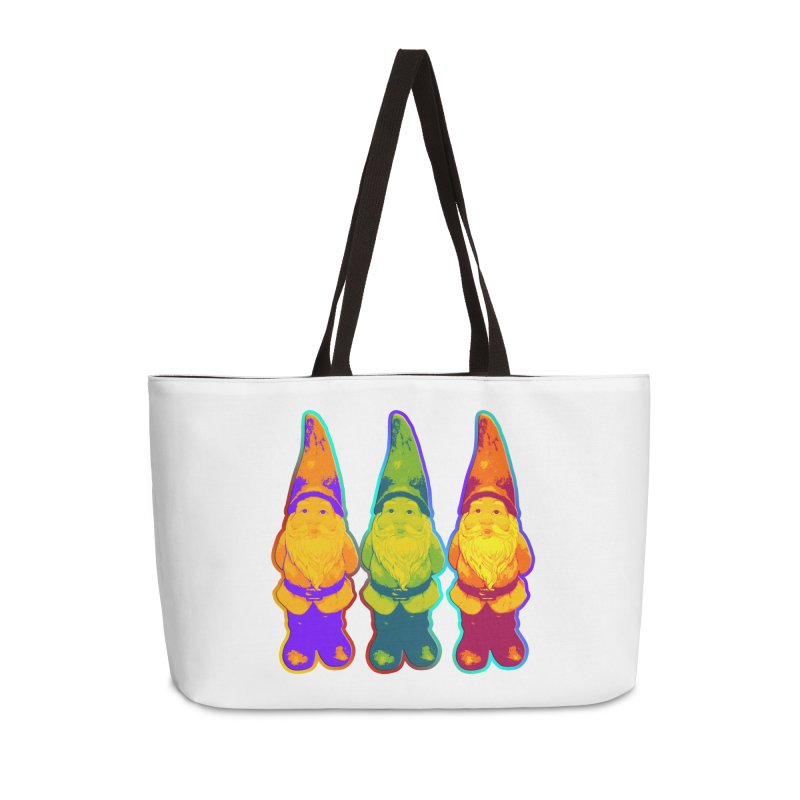 3 Garden Gnomes - Neon Style Painting Accessories Weekender Bag Bag by EDDArts Shop