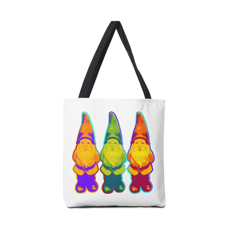 3 Garden Gnomes - Neon Style Painting Accessories Bag by EDDArts Shop