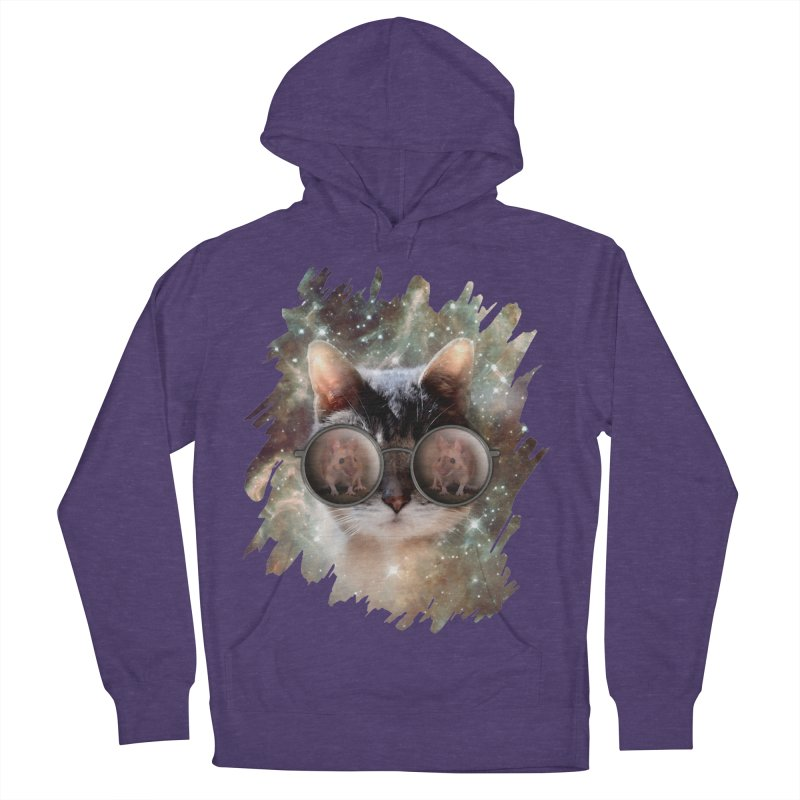 Funny COOL KITTY CAT - Mouse Sun Glasses Men's French Terry Pullover Hoody by EDDArts Shop