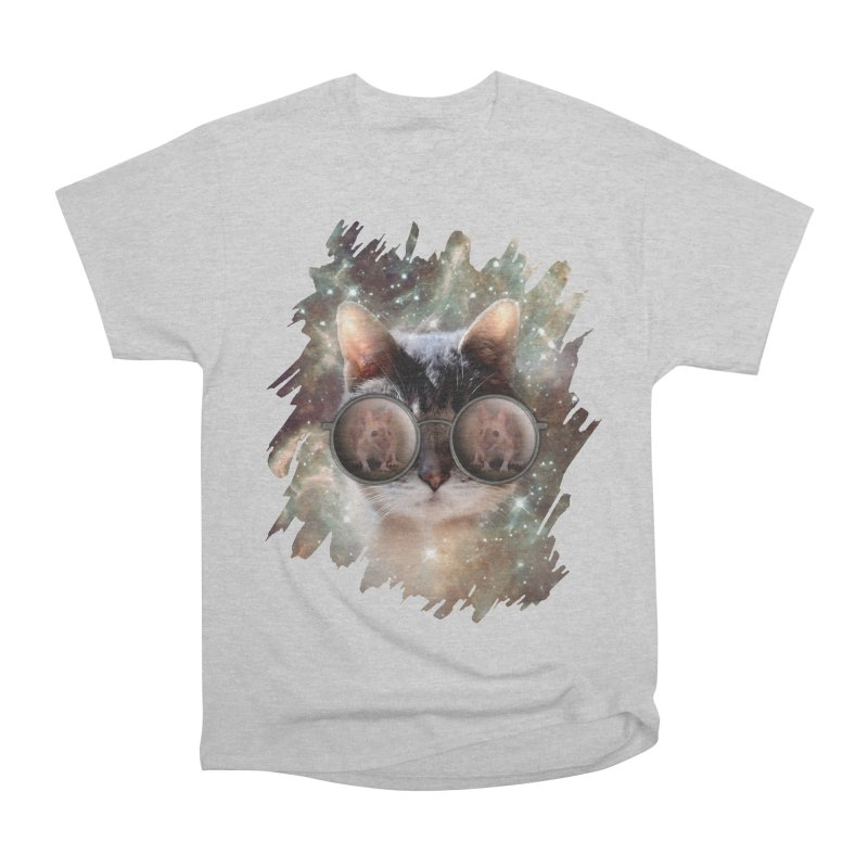 Funny COOL KITTY CAT - Mouse Sun Glasses Men's Heavyweight T-Shirt by EDDArts Shop