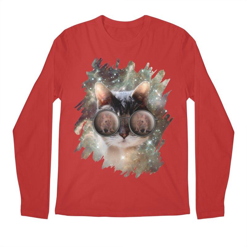 Funny COOL KITTY CAT - Mouse Sun Glasses Men's Regular Longsleeve T-Shirt by EDDArts Shop
