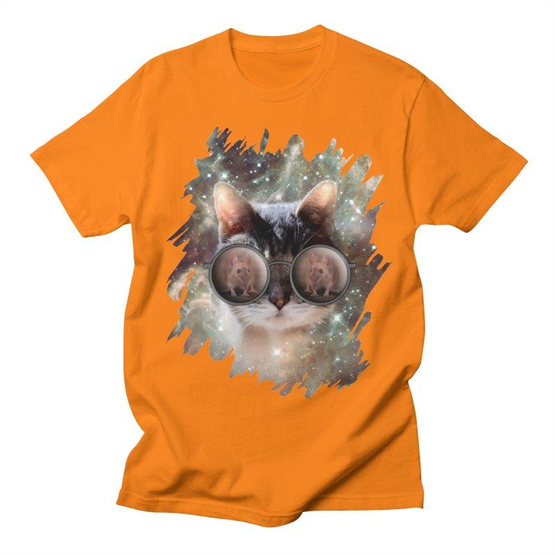 Funny COOL KITTY CAT - Mouse Sun Glasses Women's Regular Unisex T-Shirt by EDDArts Shop