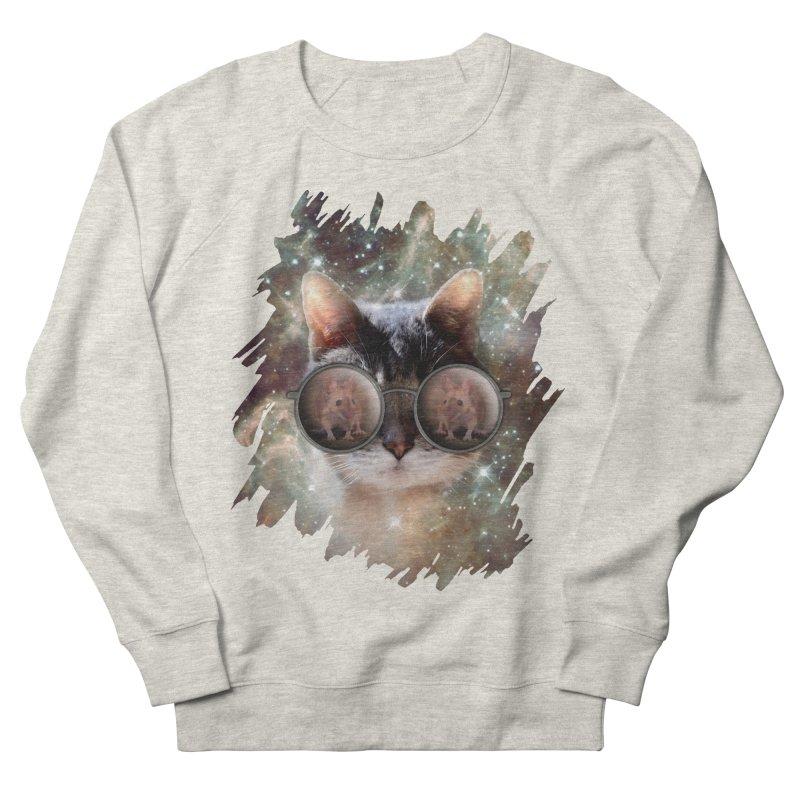 Funny COOL KITTY CAT - Mouse Sun Glasses Women's Sweatshirt by EDDArts Shop