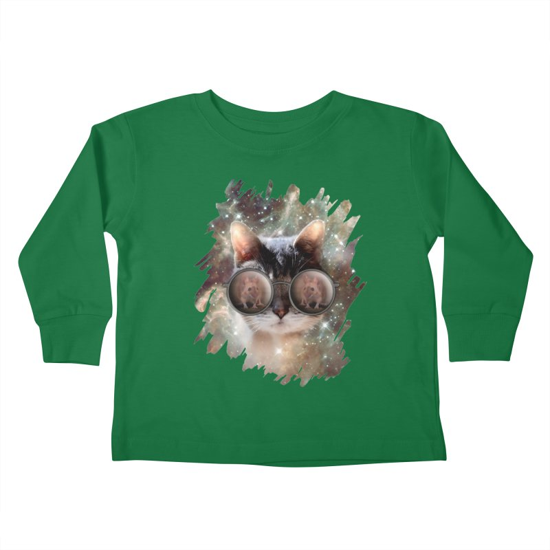 Funny COOL KITTY CAT - Mouse Sun Glasses Kids Toddler Longsleeve T-Shirt by EDDArts Shop