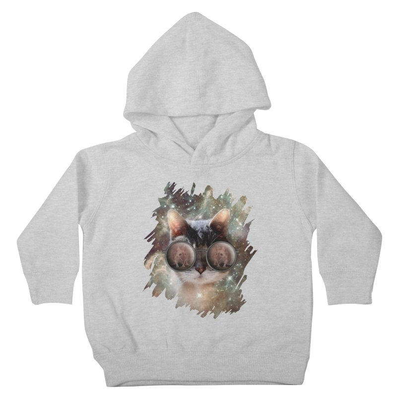 Funny COOL KITTY CAT - Mouse Sun Glasses Kids Toddler Pullover Hoody by EDDArts Shop