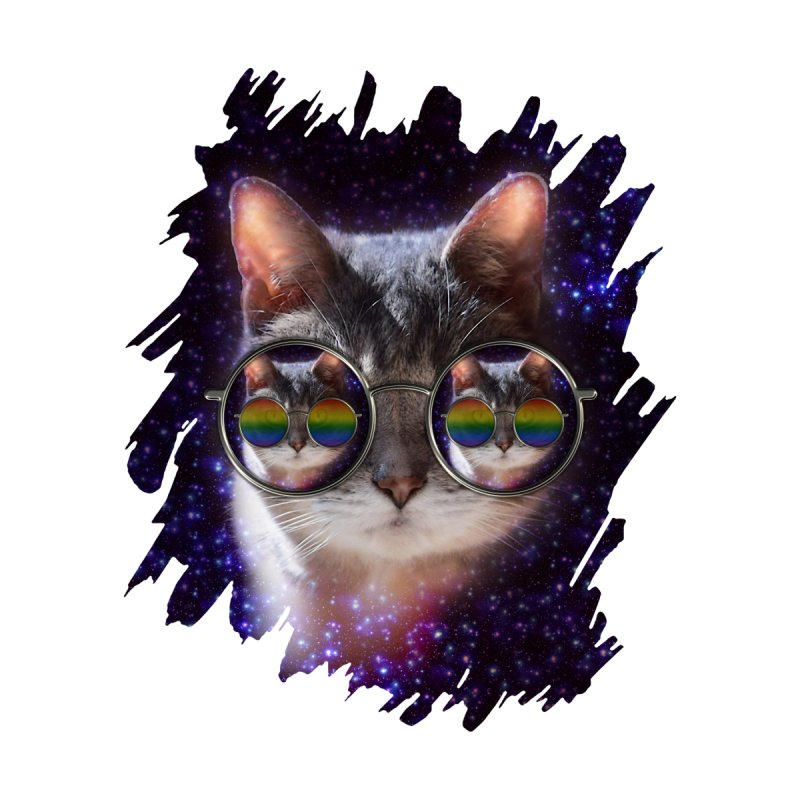 Funny COOL KITTY CAT - Rainbow Sun Glasses by EDDArts Shop