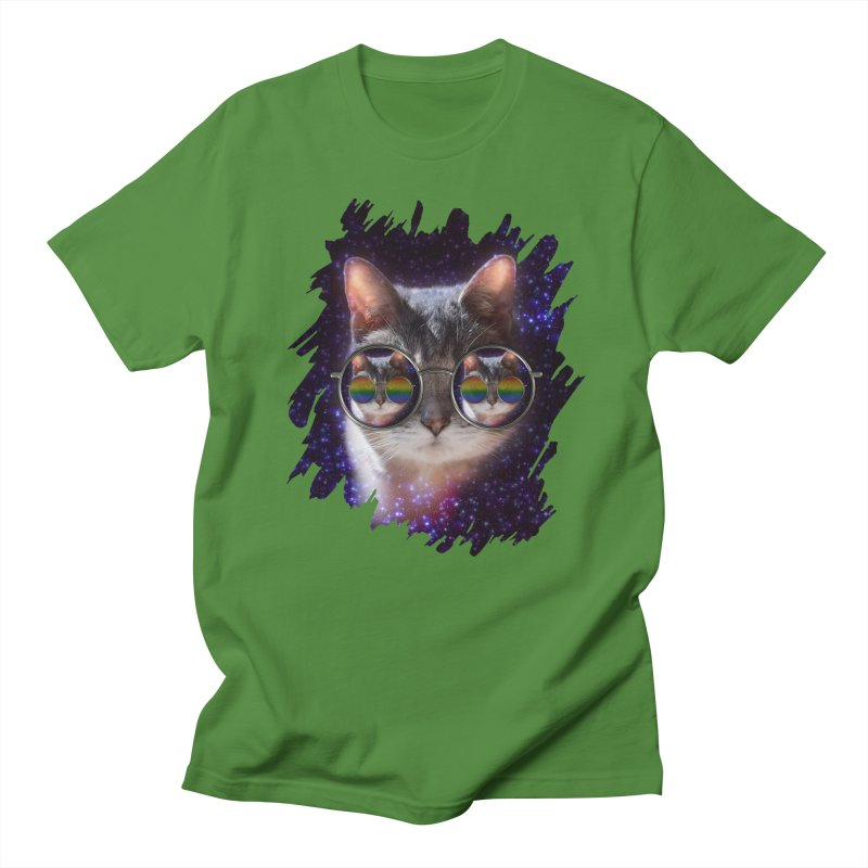 Funny COOL KITTY CAT - Rainbow Sun Glasses Women's T-Shirt by EDDArts Shop