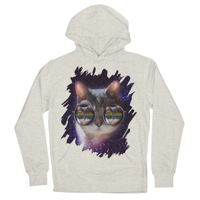 Funny COOL KITTY CAT - Rainbow Sun Glasses Men's Pullover Hoody by EDDArts Shop