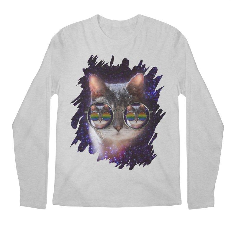 Funny COOL KITTY CAT - Rainbow Sun Glasses Men's  by EDDArts Shop